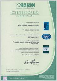 Miniatura Certificado Kortlaser - ISO 9001:2015